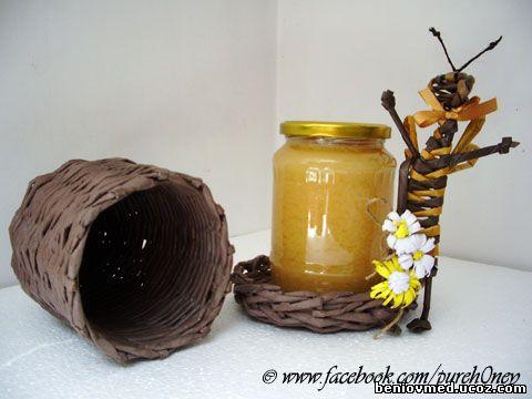 кутийка за буркан с пчелен мед