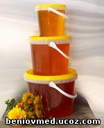 чист пчелен мед в пластмасови опаковки