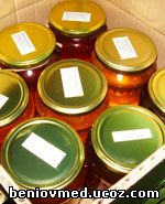 чист пчелен мед / 5 различни вкуса 8 броя в кашон